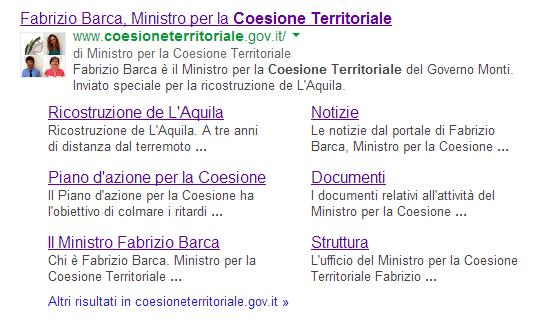 Coesione territoriale su google