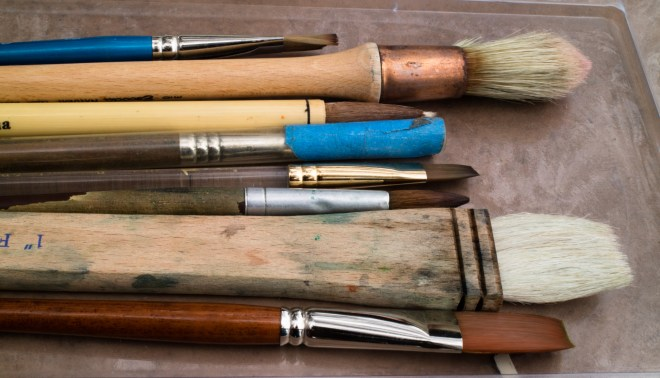 image of paint brushes