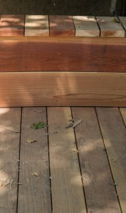 All the cracks line up for better unity. The wood has since been stained for more uniform color.