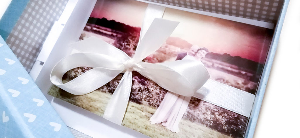 Fotografia di matrimonio stampata in una photobox