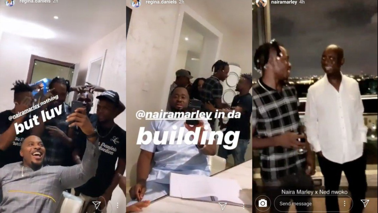 Image result for Naira Marley shooting with regina daniels