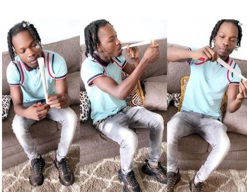 Naira Marley share Photos of himself smoking a 'jumbo sized' Weed