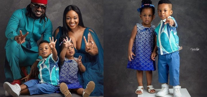 Paul Okoye shares cute Photos as his set of Twins who just clocked age 2