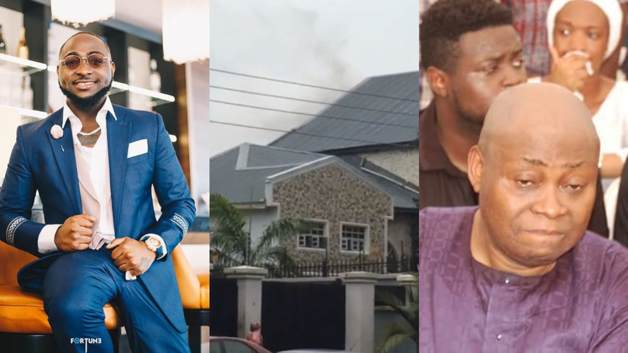Davido's Father's house gutted by Fire today (Video) | LuciPost