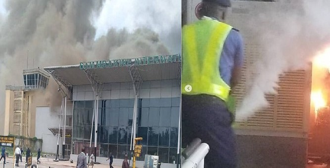 Fire outbreak at Sam Mbakwe Airport (Photo, Video)