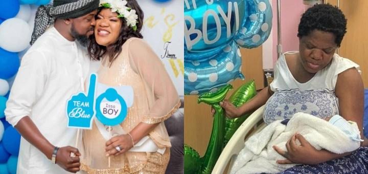 First Photo of Toyin Abraham and her newborn baby boy