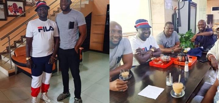 #BBNaija 2019: Evicted housemate, Tuoyo hangs out with Ayiri Emami & Mr Jollof