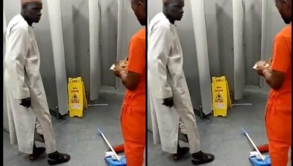 Elderly man returns money he found in Lagos Airport Restroom (Video)