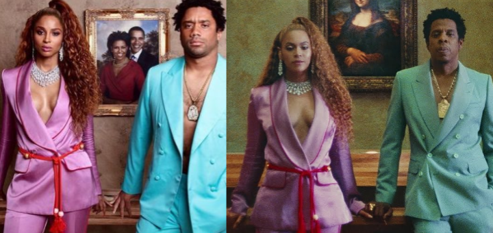 Ciara and Russell Wilson channel Beyonce and Jay-Z for Halloween while paying tribute to Michelle and Barack Obama