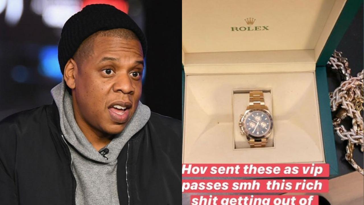 JAY-Z sends Meek Mill, Swizz Beatz & others $40K Rolex watches as VIP Pass to his Show (Photos)