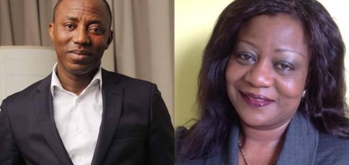 Sowore's re-arrest in court was staged - Lauretta Onochie