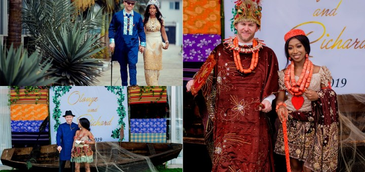 See these stunning photos from an interracial marriage in Port Harcourt