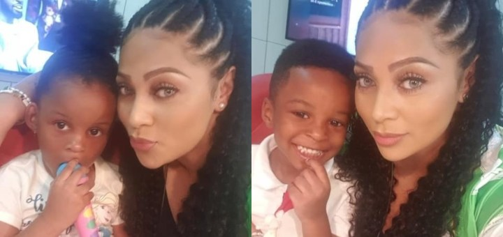 Lola Omotayo showers Anita Okoye's twins with Love despite the Hostility between their Husbands