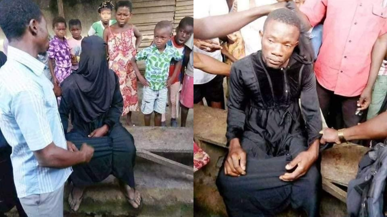Image result for Man Disguised In Hijab To Sleep With A Woman In Her Husband's House