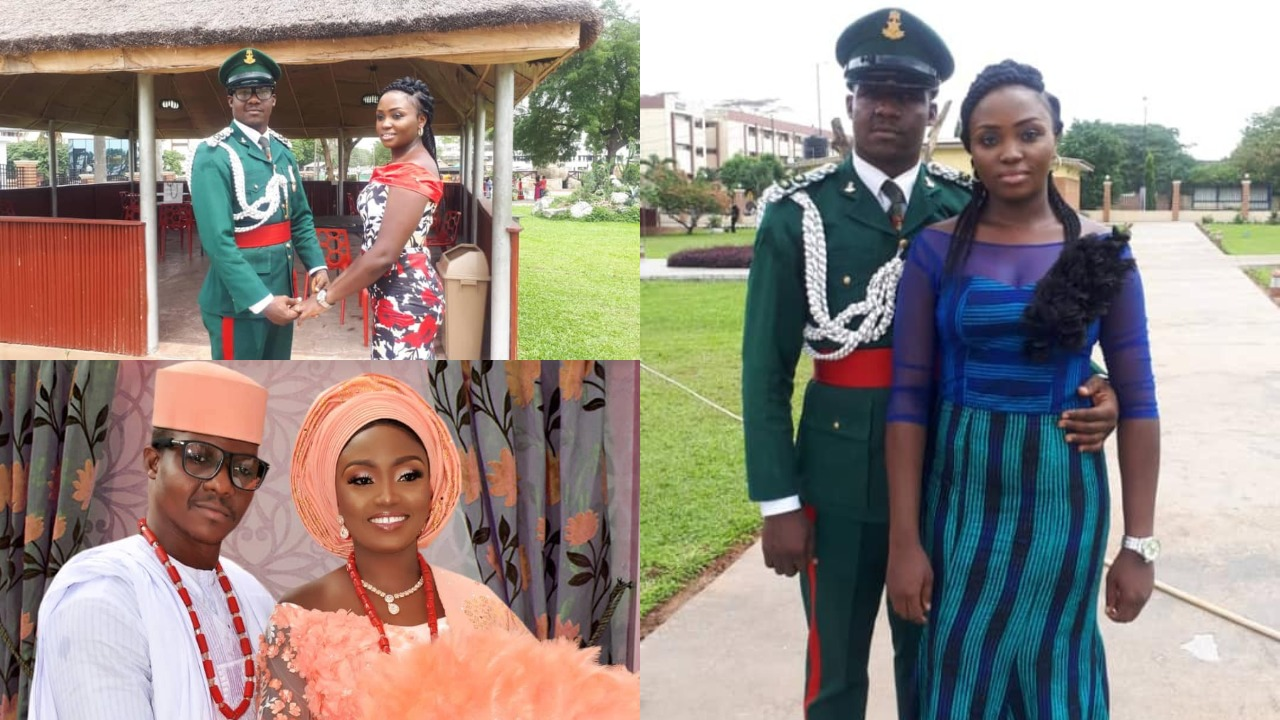 Image result for Nigerian Army officer pens down heart-melting birthday message to his wife (photos)