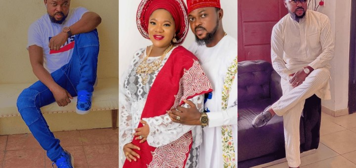 Toyin Abraham's husband joins the league of wig-wearers as he battles to cover his receding hairline (Photos)