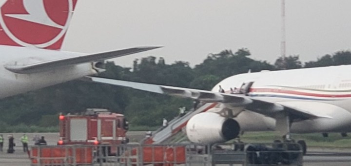 Two planes collide at Lagos Airport (Photos)