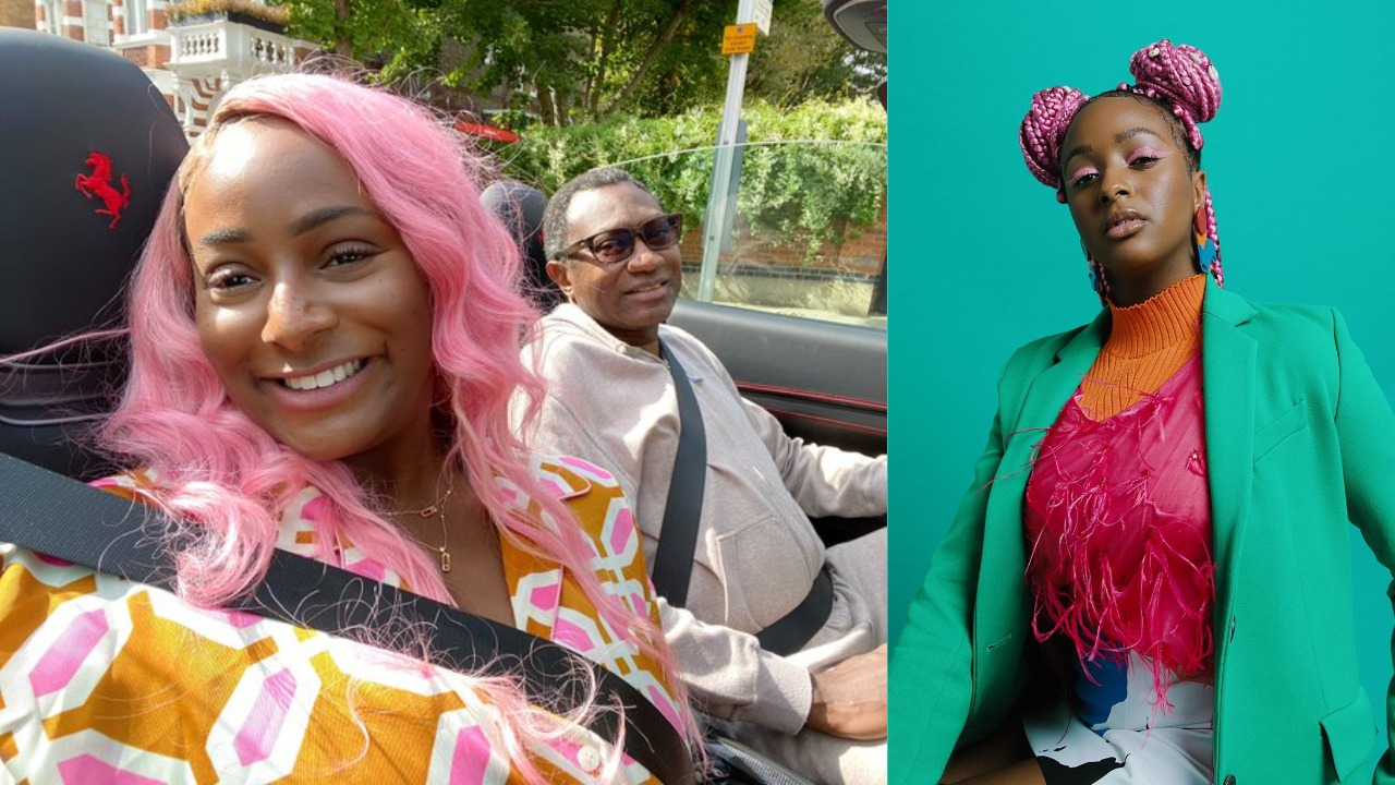 """""""Father of the year"""" - Femi Otedola becomes first passenger in DJ Cuppy's new Ferrari"""