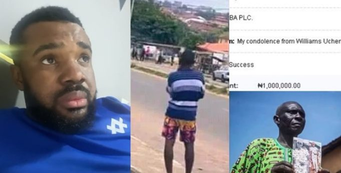 Williams Uchemba gives N1 million to father of late Jimoh Isiaka shot dead during #EndSARS protest (Video)