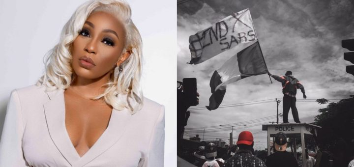 """""""For once, the voices of real people are heard"""" - Rita Dominic says as she vows to unfollow anyone who wants to disrupt the #EndSARS protest"""