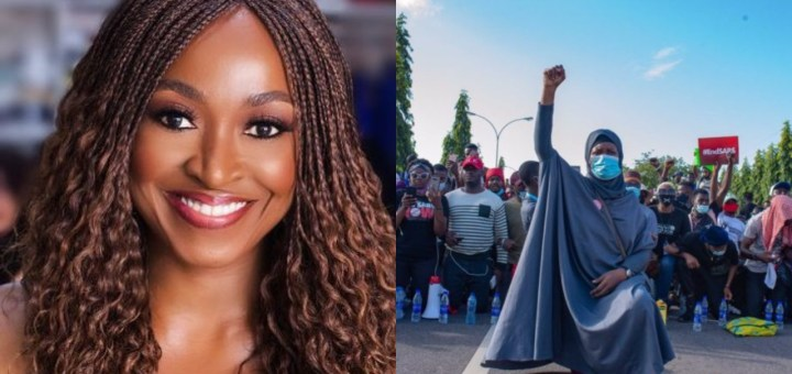 """""""Use same energy to cast your votes in next election"""" - Kate Henshaw tells Nigerians, following disbandment of SARS"""