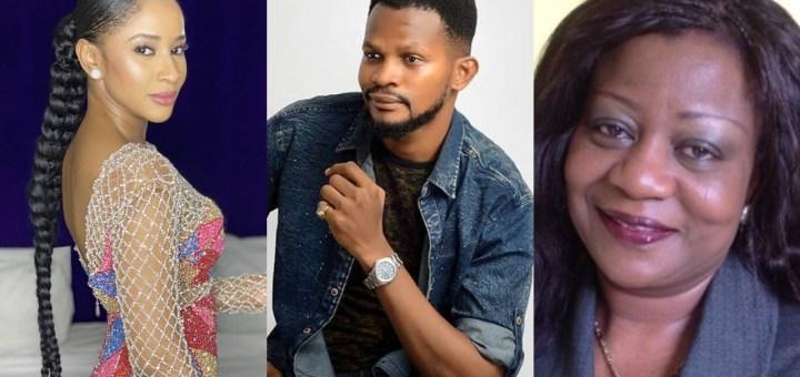 Uche Maduagwu attacks Adesua Etomi for disrespecting Lauretta Onochie