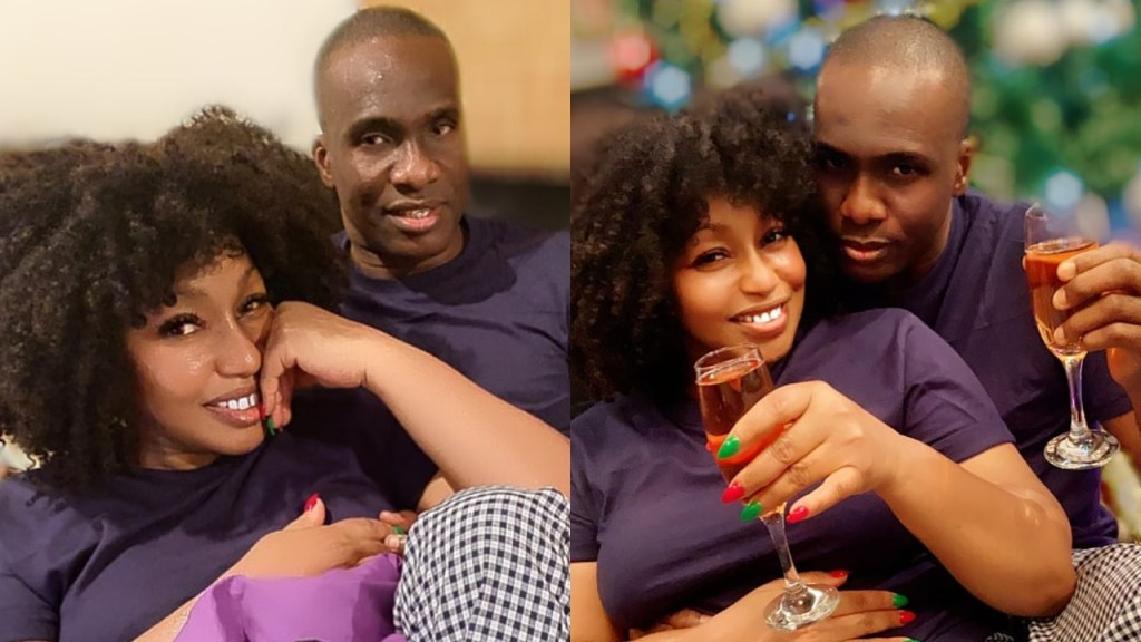 Rita Dominic shares loved up photos with 'her man' to celebrate Christmas