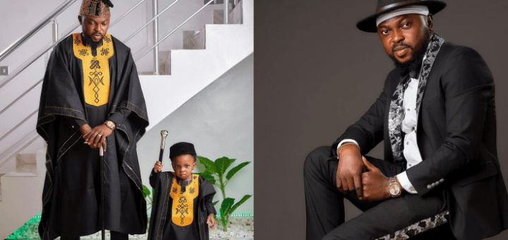 Toyin Abraham Shares Lovely Photo Of Her Husband, Kola Ajeyemi And Their Son, Ire, As The Actor Celebrates His Birthday