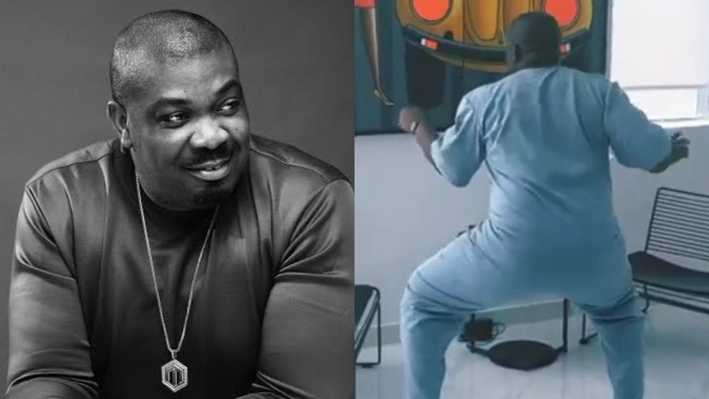 "Moment Don Jazzy was twerking to Rema's latest music ""Bounce"" (Video)"