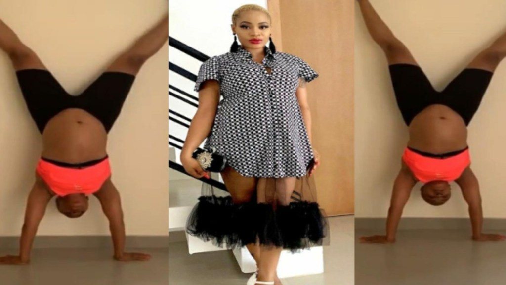 Pregnant Uche Ogbodo Comes Through With The Flip Just To Check She Still Got Her Moves (Video)