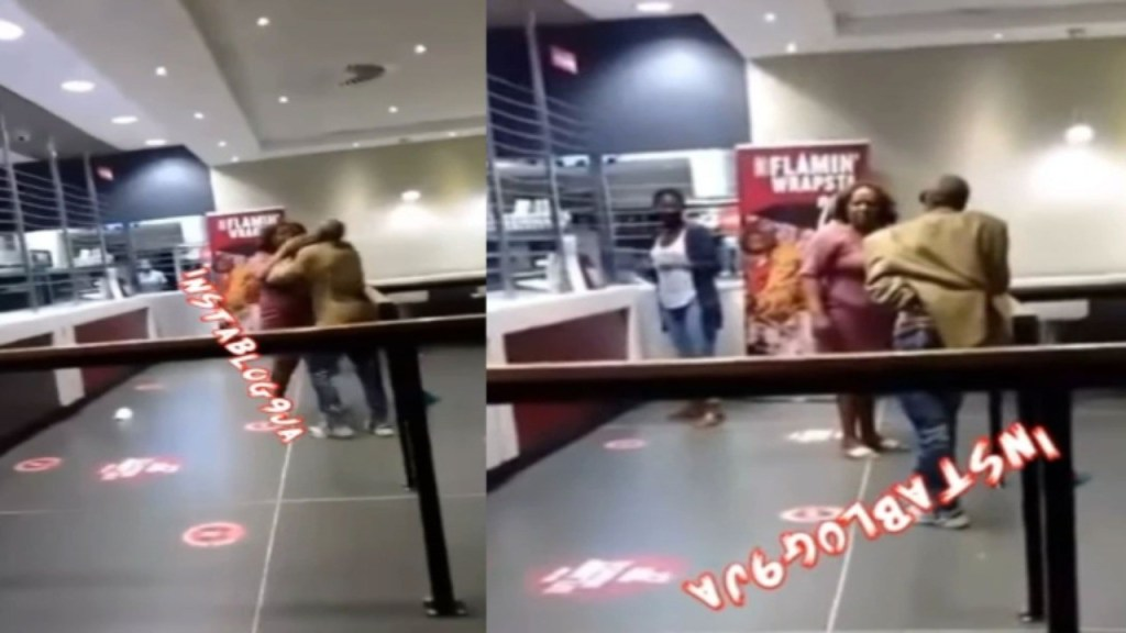 Woman Slaps Her Man Twice In A Restaurant Just Because He Couldn't Pay For Their Meal (VIDEO)