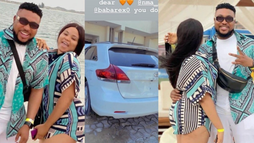 What of your mama' - Reactions as Actor Nosa Rex buys his wife a new car