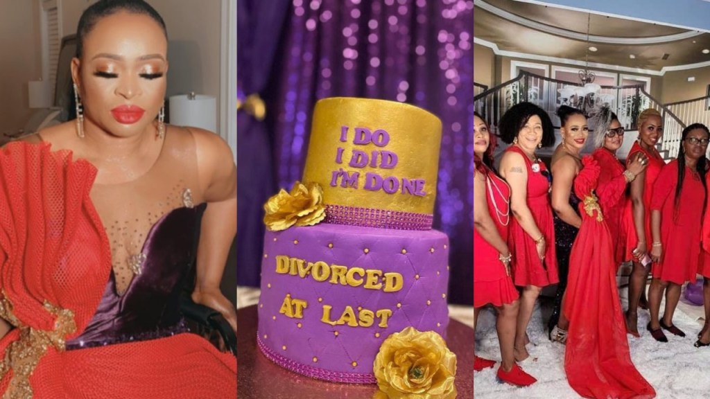 Nigerian lady throws a party to celebrate her divorce (Video)