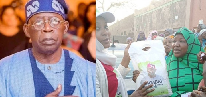 Tinubu Starts Sharing Rice To Kano Residents Ahead Of Presidential Election (PHOTOS)