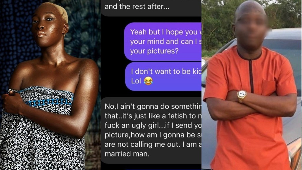 Adetutu OJ exposes chat with married man who offered to pay 500k for s*x with her because he fantasies about s*x with an 'ugly' woman