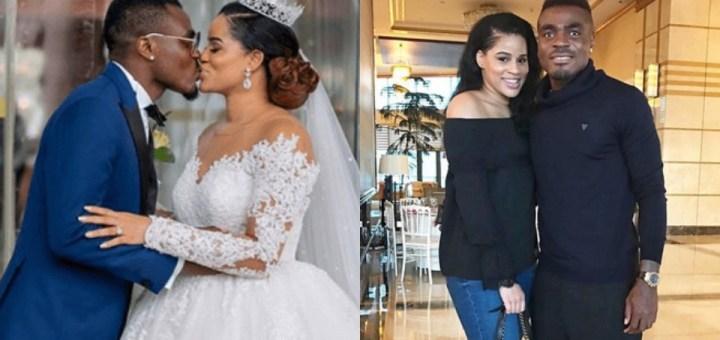 Ex-beauty queen, Iheoma Nnadi, and her Footballer Hubby, Emmanuel Emenike, celebrate 4th Wedding Anniversary