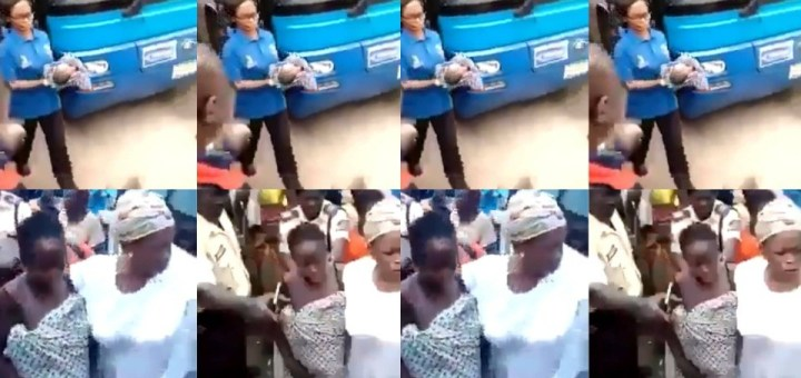 Woman births her baby inside a BRT bus in Lagos (Video)