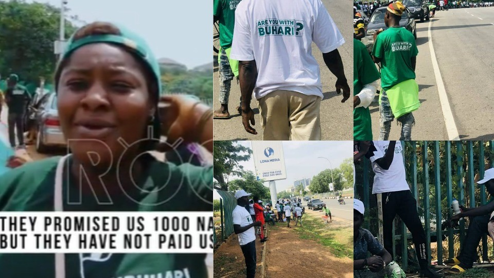 #June12theProtest: ''They promised us N1000''- #IstandforBuhari Supporter claims (Video)