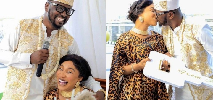 Lovely photos of Actress, Tonto Dikeh, and her new man, Prince Kpokpogri, at his Birthday Party