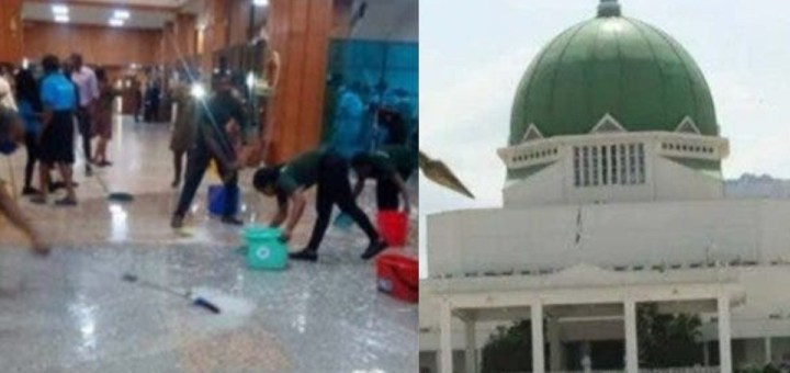 National Assembly flooded as roof leaks during heavy rainfall