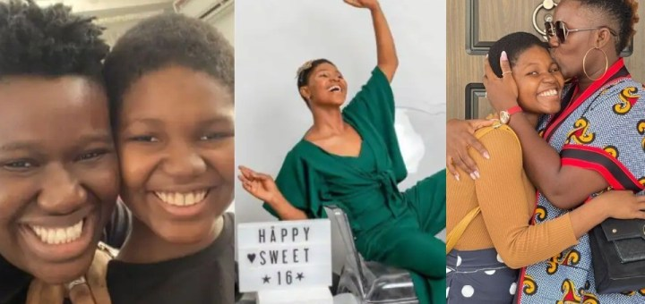 Comedienne Warri Pikin melts hearts as she celebrates her house help on her 16th birthday