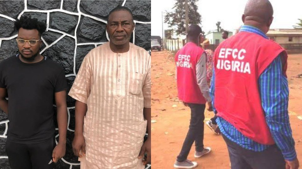 EFCC arrests a Father and Son over alleged Internet Fraud