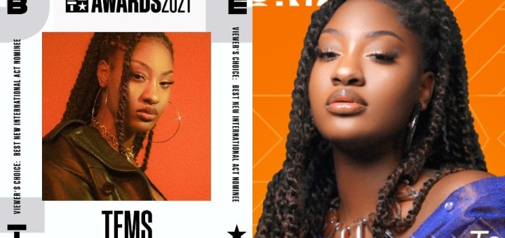 """#BETAwards 2021: Singer, Tems Nominated for BET """"Best New International Act"""" Viewer's Choice Awards 2021"""