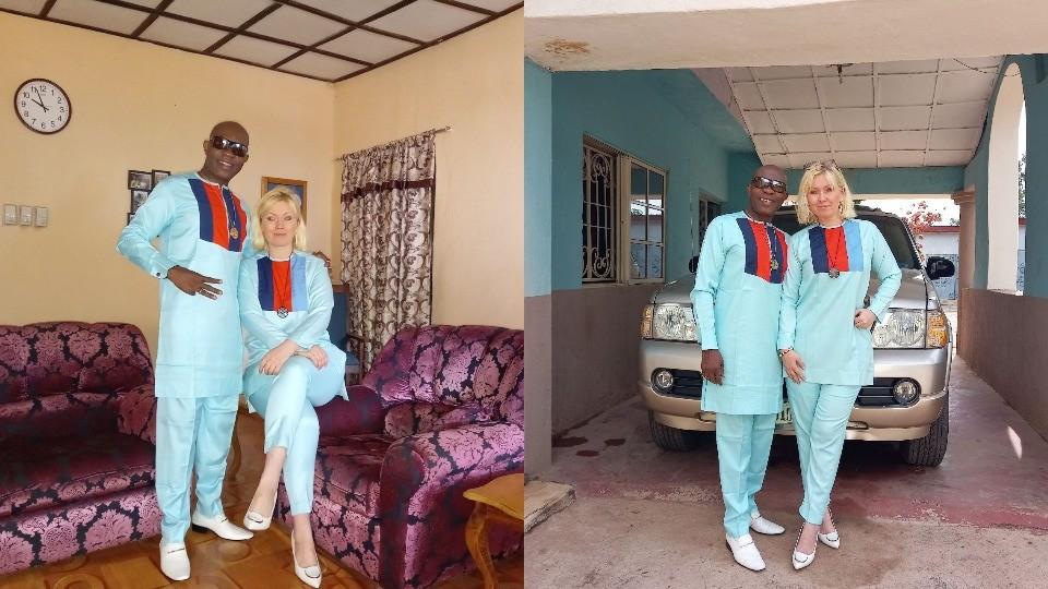 White Woman Flaunts Her Nigerian Husband on Their 26th Year Wedding Anniversary