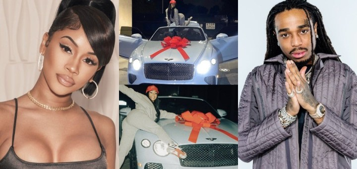 """Saweetie """"puts up"""" the custom Bentley given to her by ex, Quavo for """"Sale"""""""