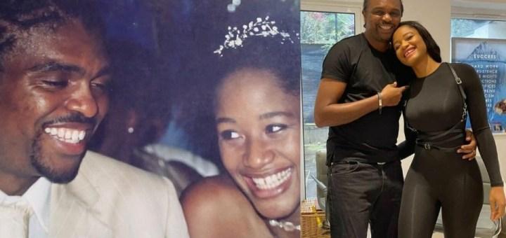 Footballer, Kanu Nwankwo and wife, Amara Kanu celebrate their 17th wedding anniversary