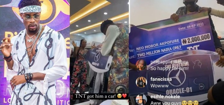 Neo's fans gift him a Mercedes Benz and 2million naira for his Birthday (Video)