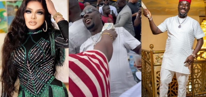 """""""You don't know how much I worth"""" - Bobrisky brags, shows off N3M Cash as he blasts fans mocking him for missing Obi Cubana's mum's burial in Oba (Video)"""