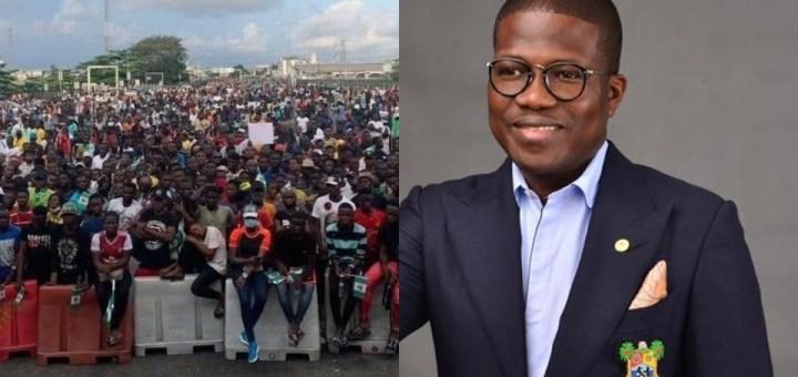 """#EndSARS Protest: """"No blood at Lekki tollgate after shooting"""" - Lagos govt official says"""