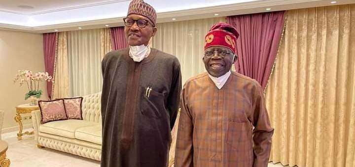 See what Nigerians are saying after Buhari visited Tinubu in London